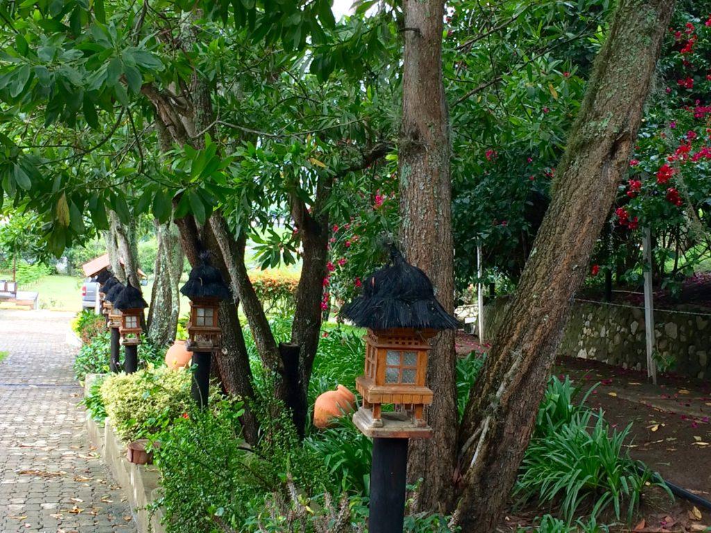 Path to breakfast at Altocerras Villas