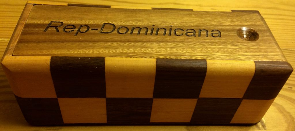 Dominoes in parquet box