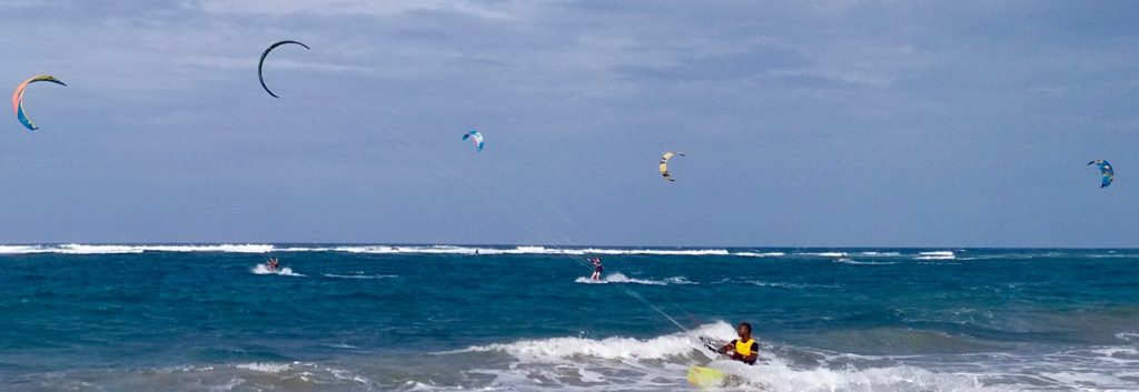 Cabarete kite surfers