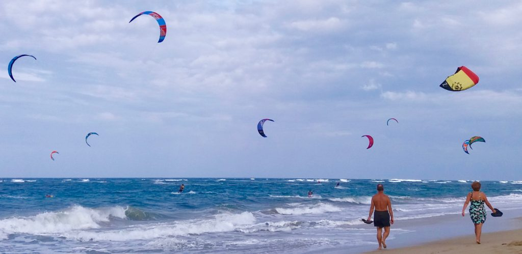 Cabarete kite surfing
