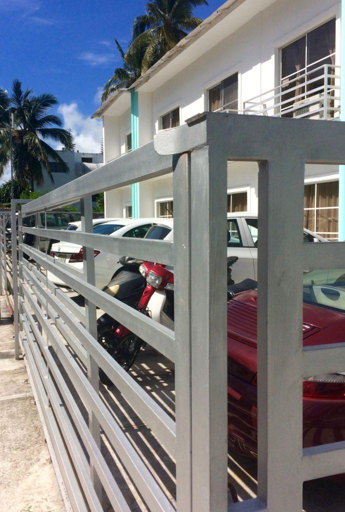 Car jail at Art Villa B&B