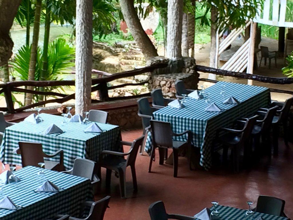 Dining room at Paraiso Cano Hondo