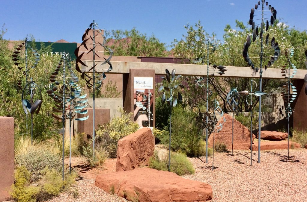 Wind catcher garden at Coyote Gulch near Ivins