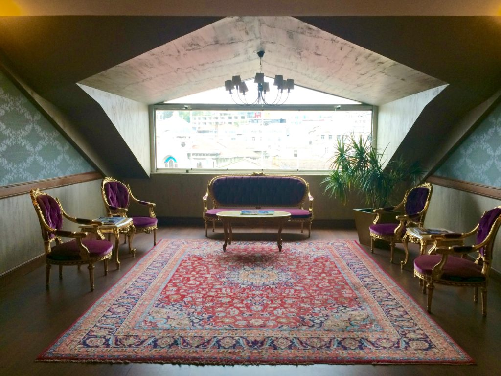 An alcove in the Legacy Ottoman Hotel