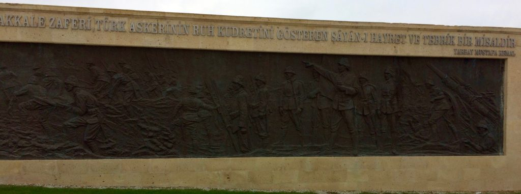 Bas-relief depicting Turkish resistance