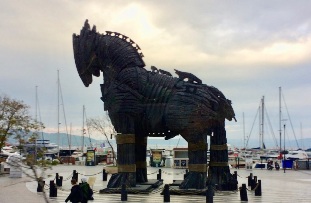 Trojan horse from Hollywood movie