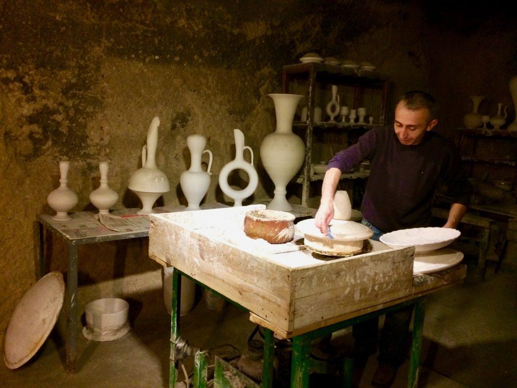 Ceramicist at work