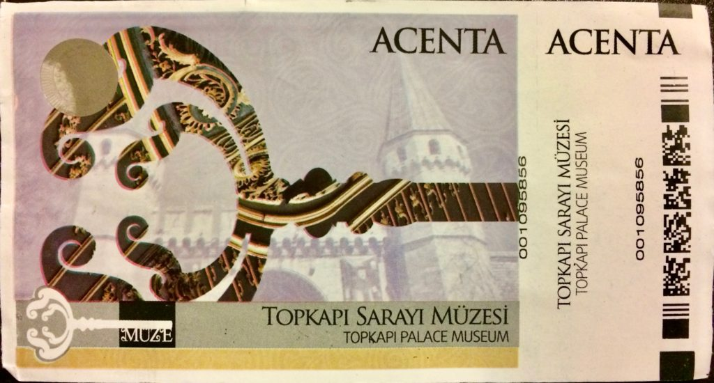 Topkapi Palace ticket