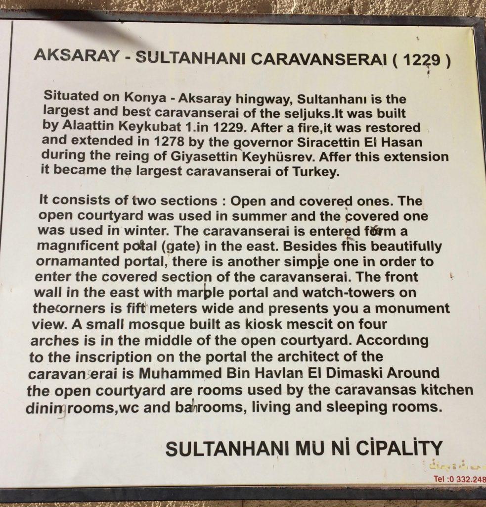 Caravanserai signage