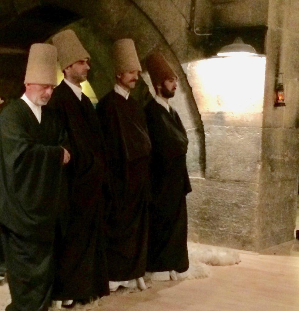 Priests enter