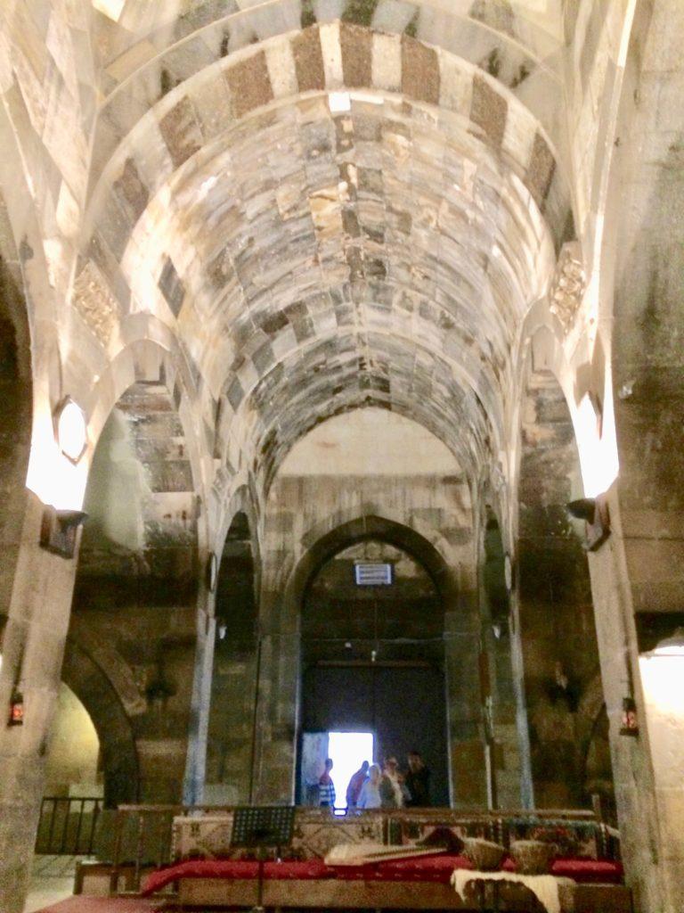 Vaulted ceiling of caravanserai interior