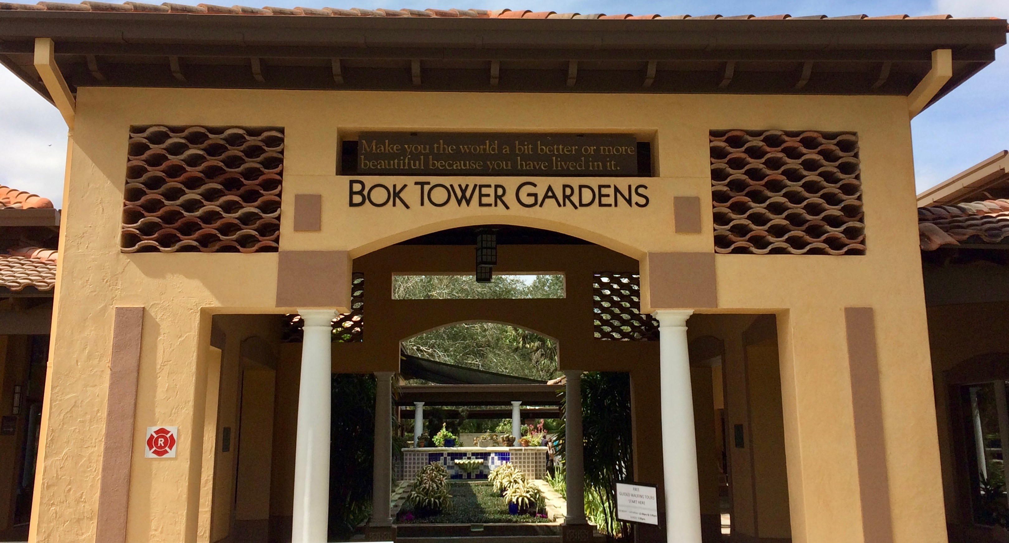 Bok Tower Gardens front gate