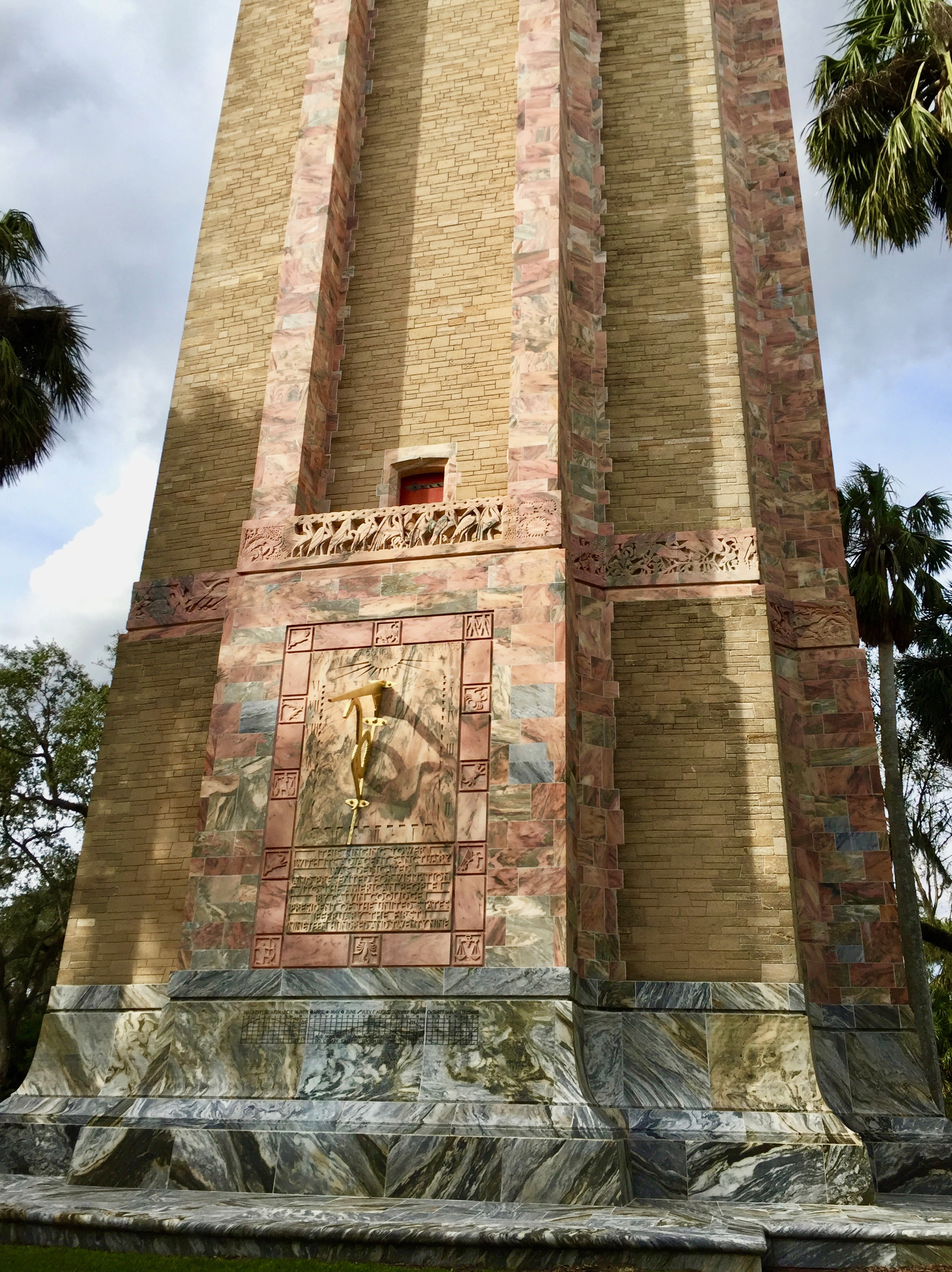 Side of carillon tower