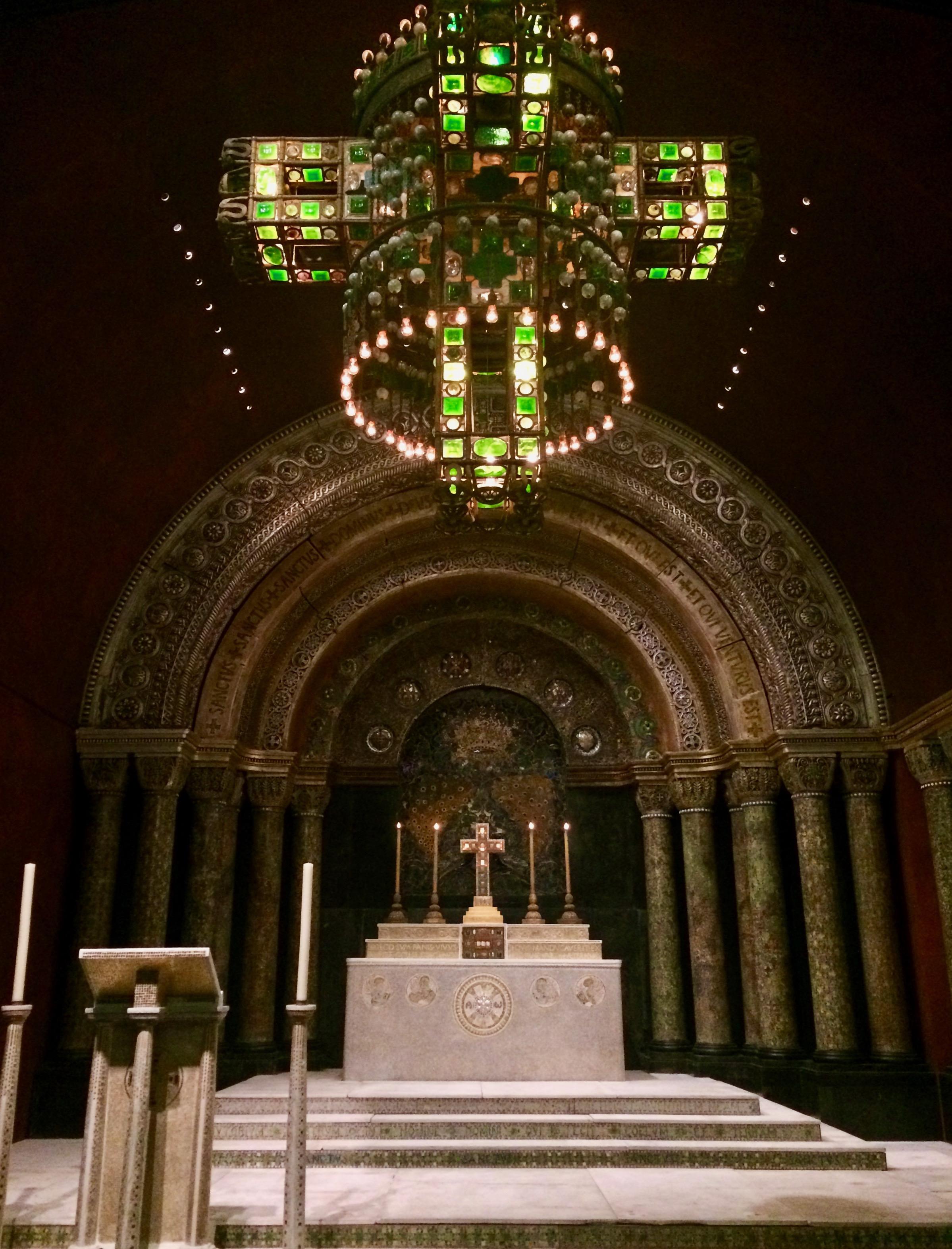 Tiffany mosaics chapel