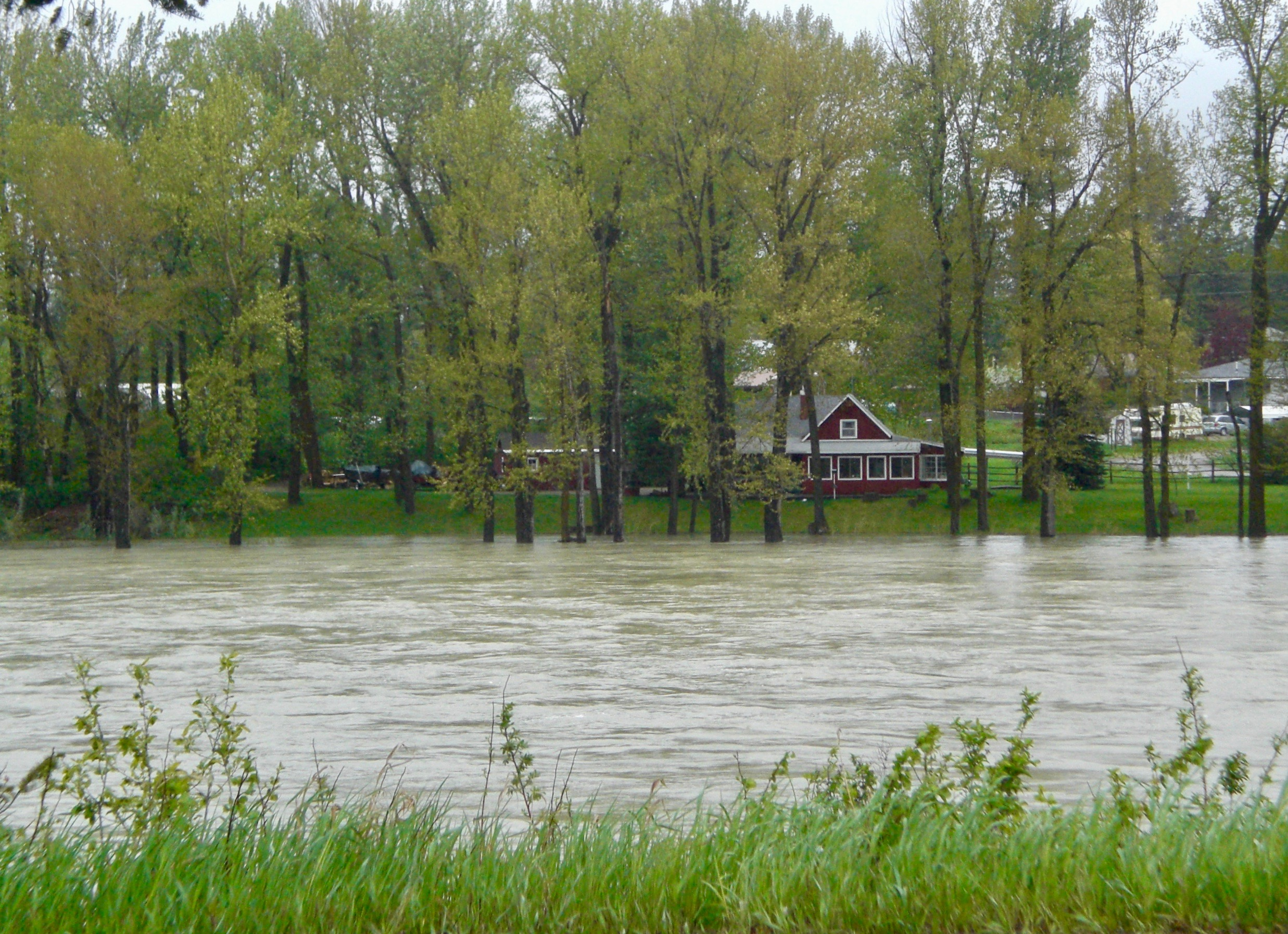 Disappearing banks of the Whitefish River