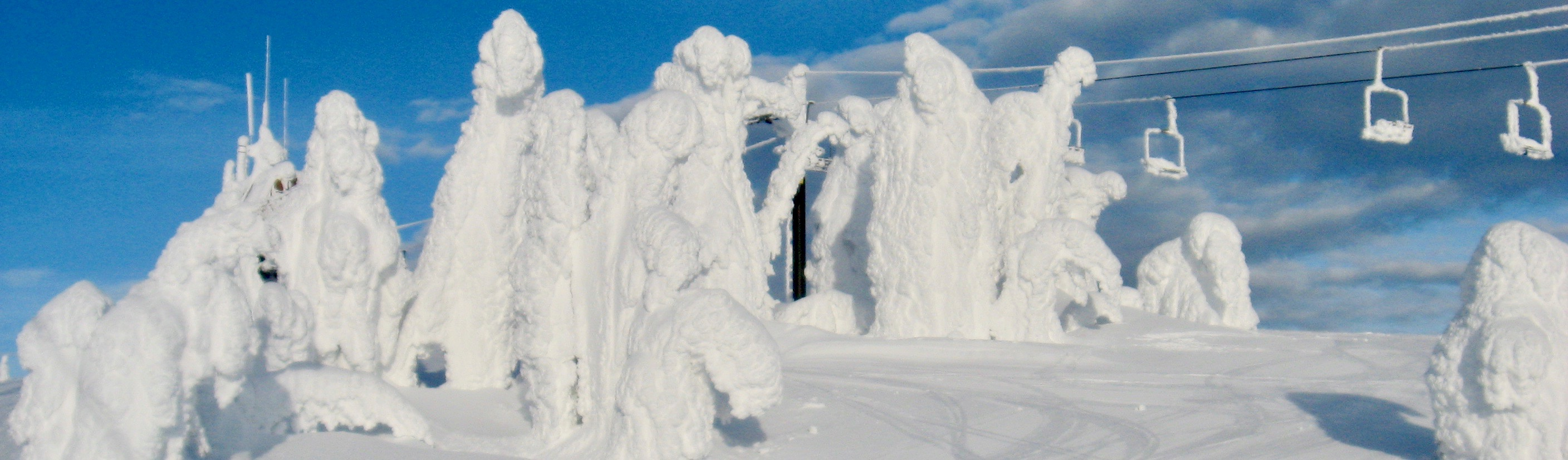 Ski lift attacked by snow ghosts