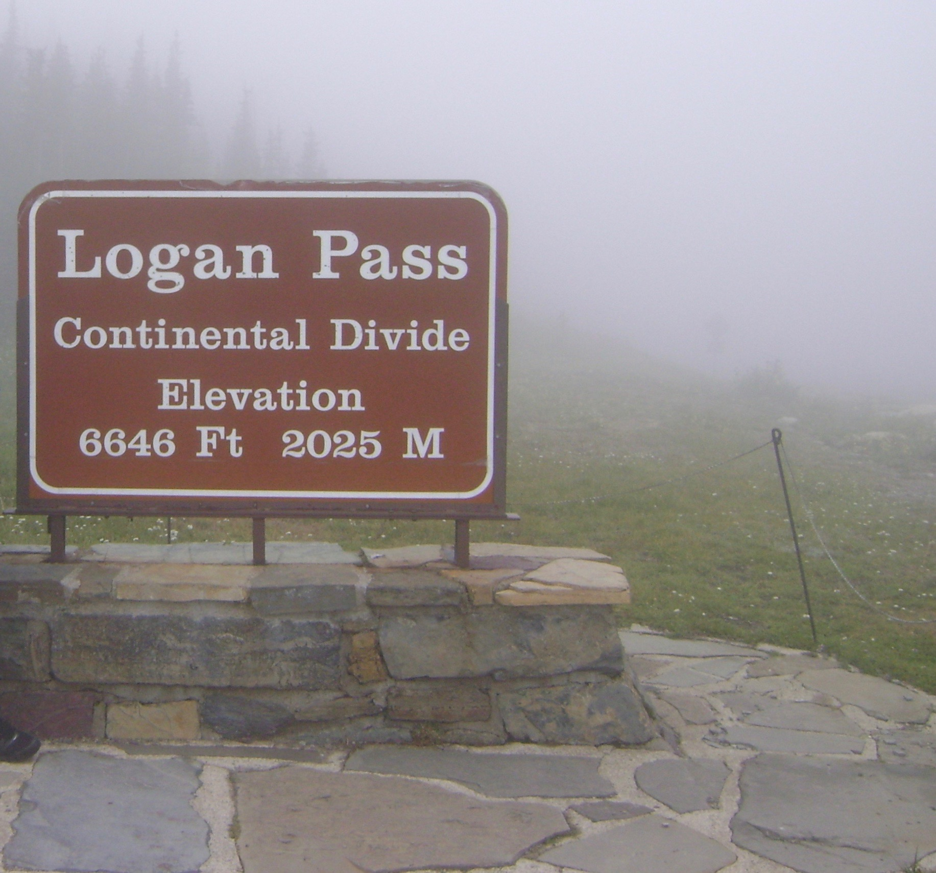 Mists at the top of Logan Pass