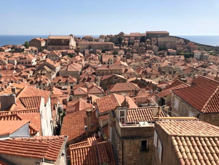 Red tile roofs of Dubrovnik
