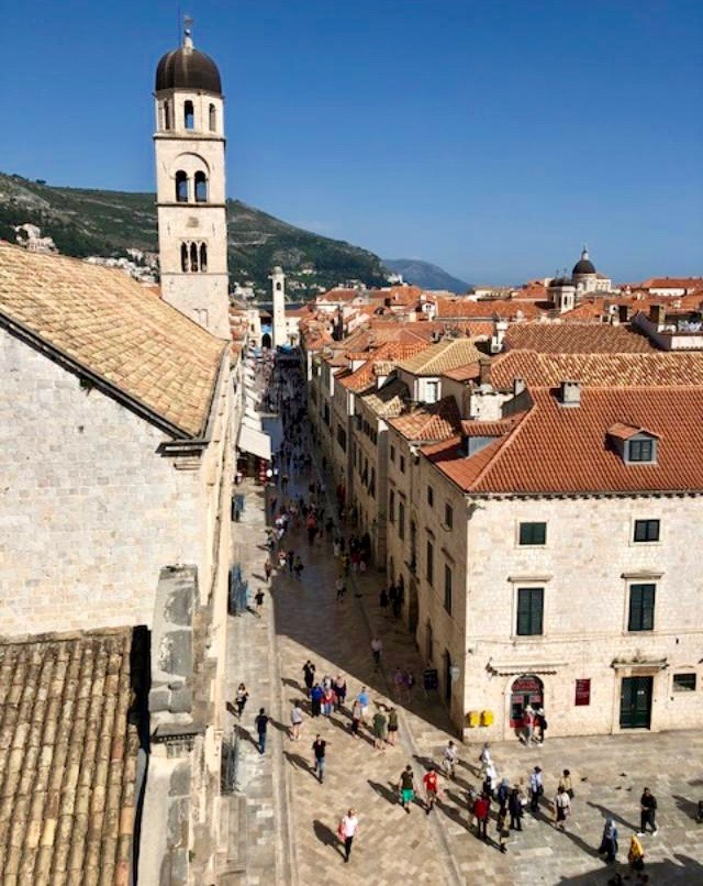 View of Dubrovnik from our BnB