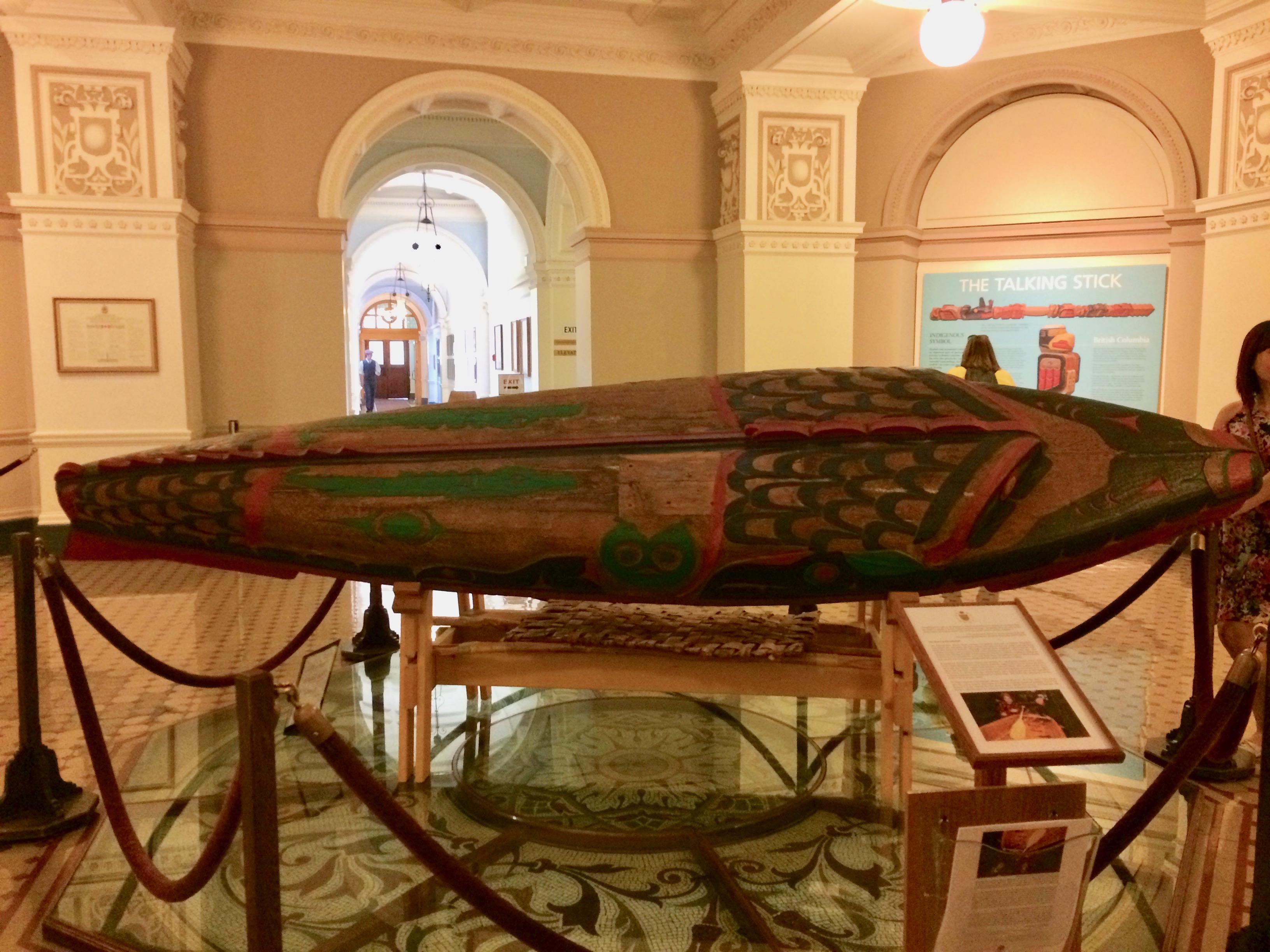 Coast Salish inland river canoe