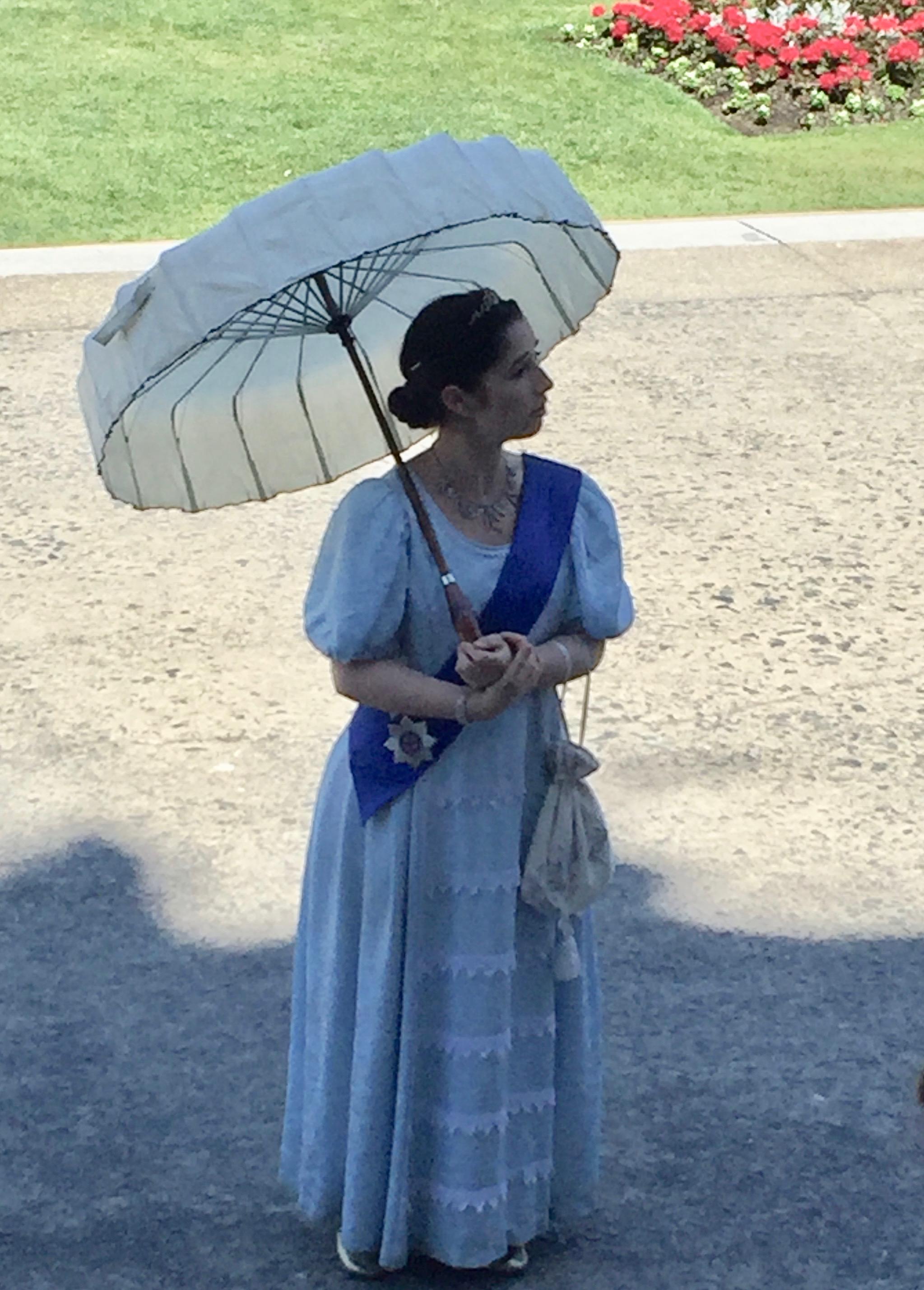 Docent enacting Queen Victoria