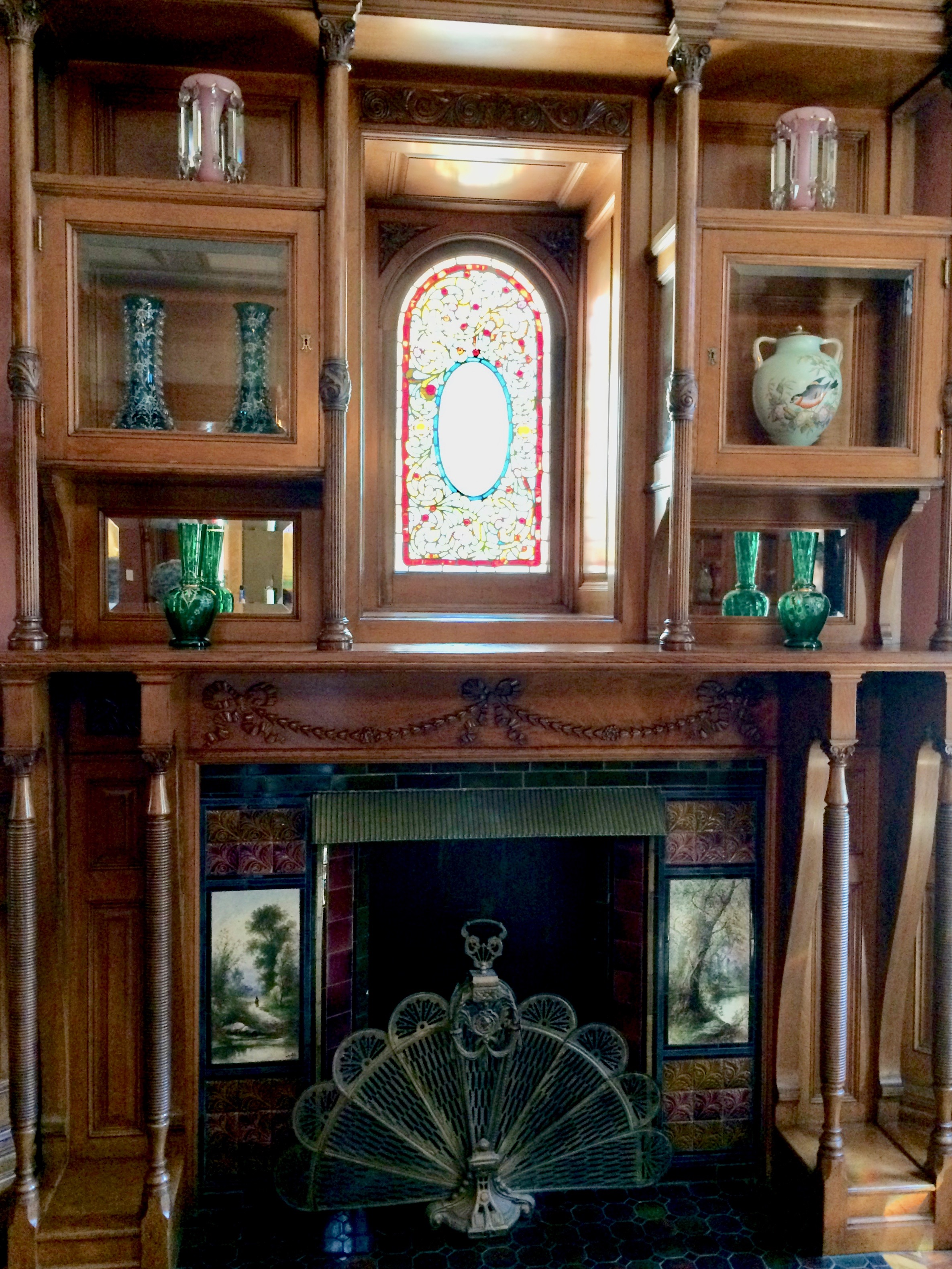 One of 17 fireplaces