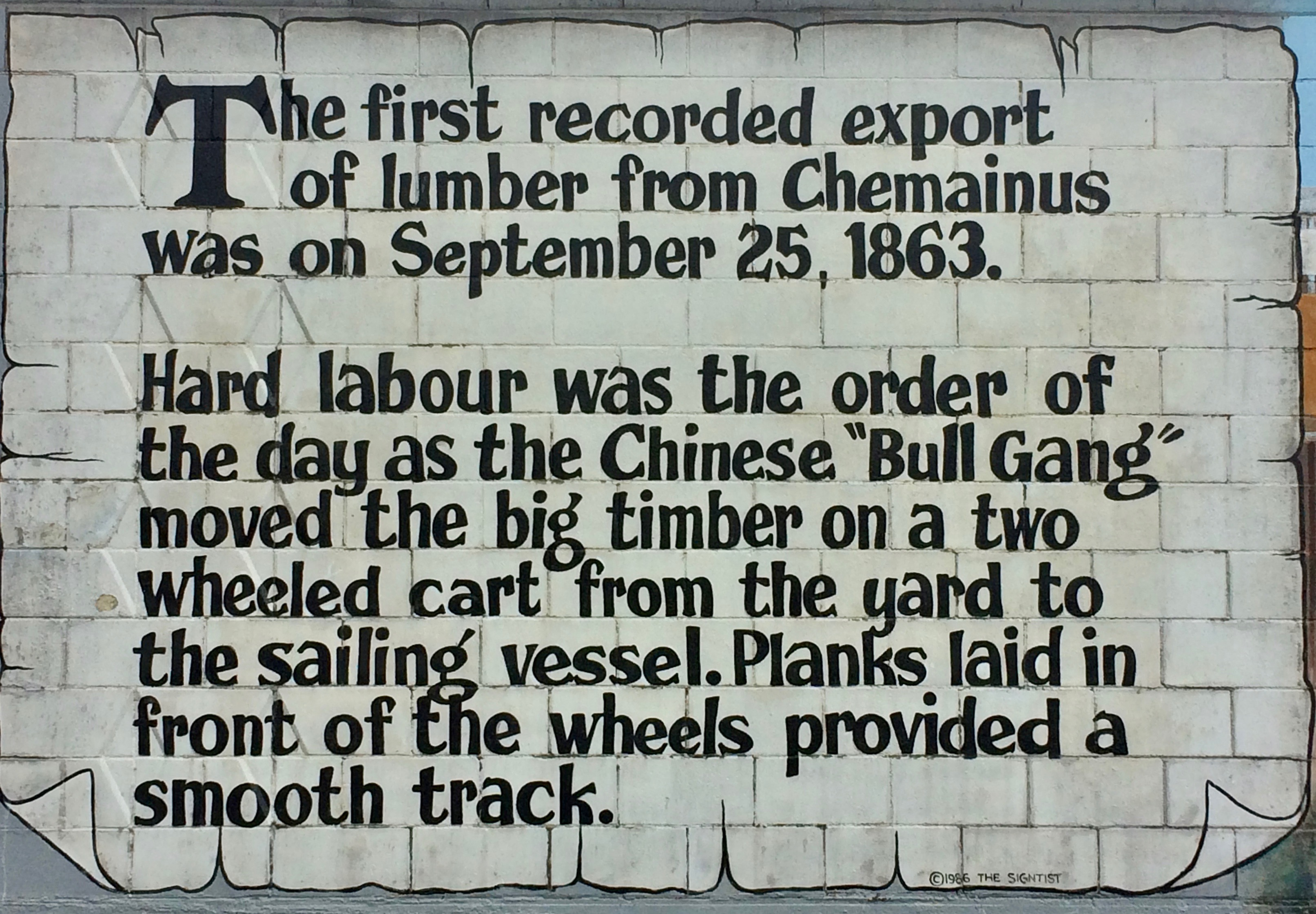 Signage for Chinese Bull Gang