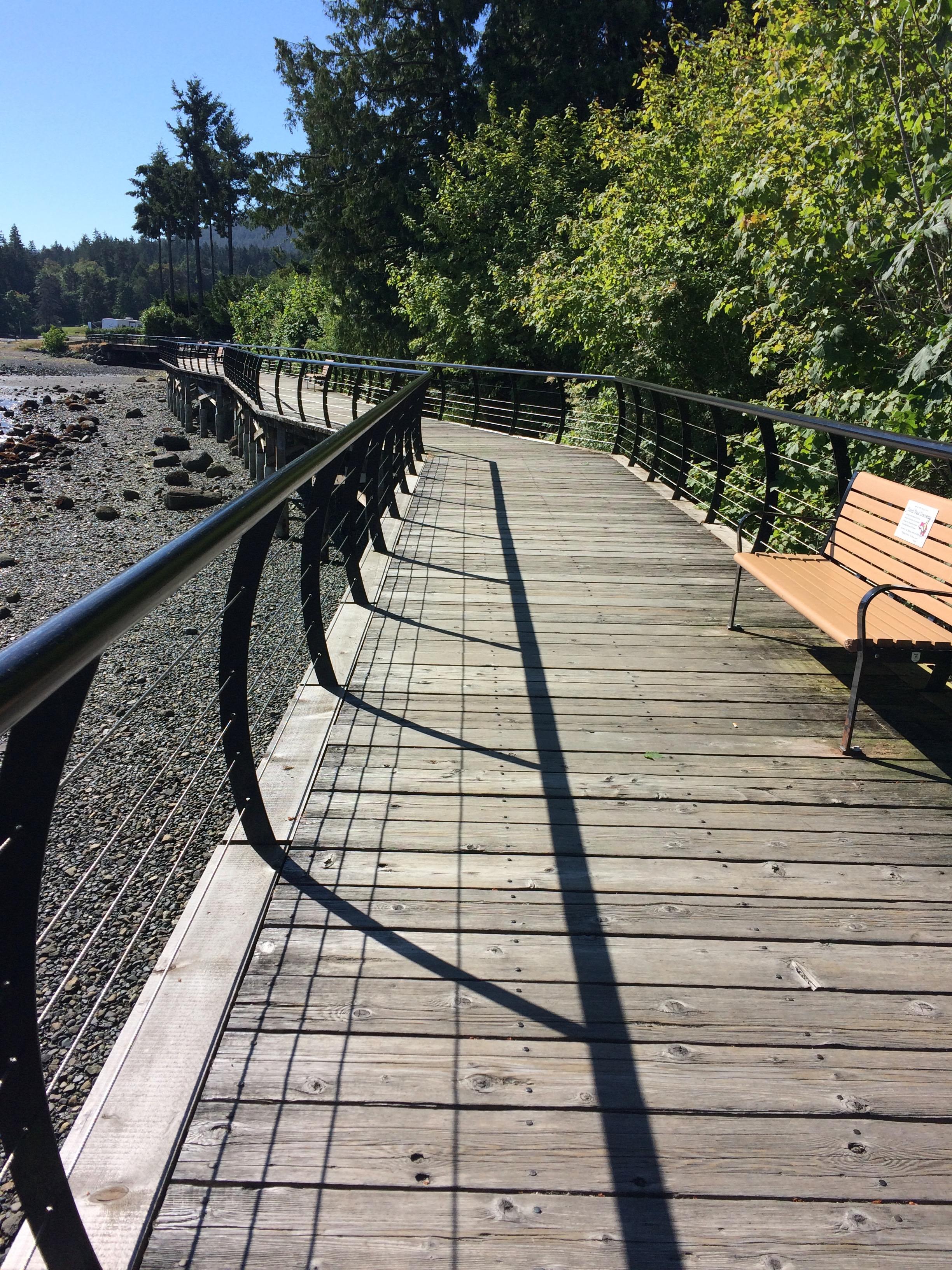Tide is out at Crofton Community Seawalk
