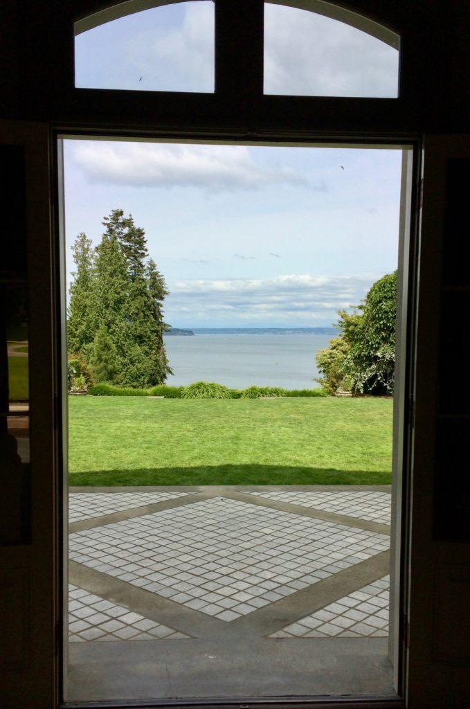 View through front door at Bloedel Reserve