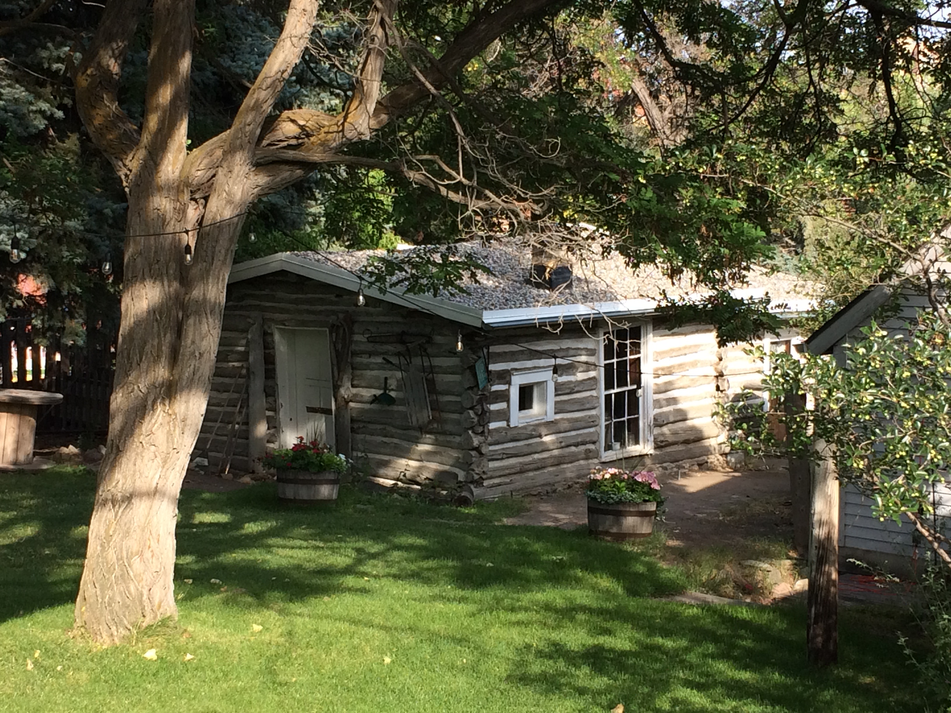 log cabin at Reeders Alley