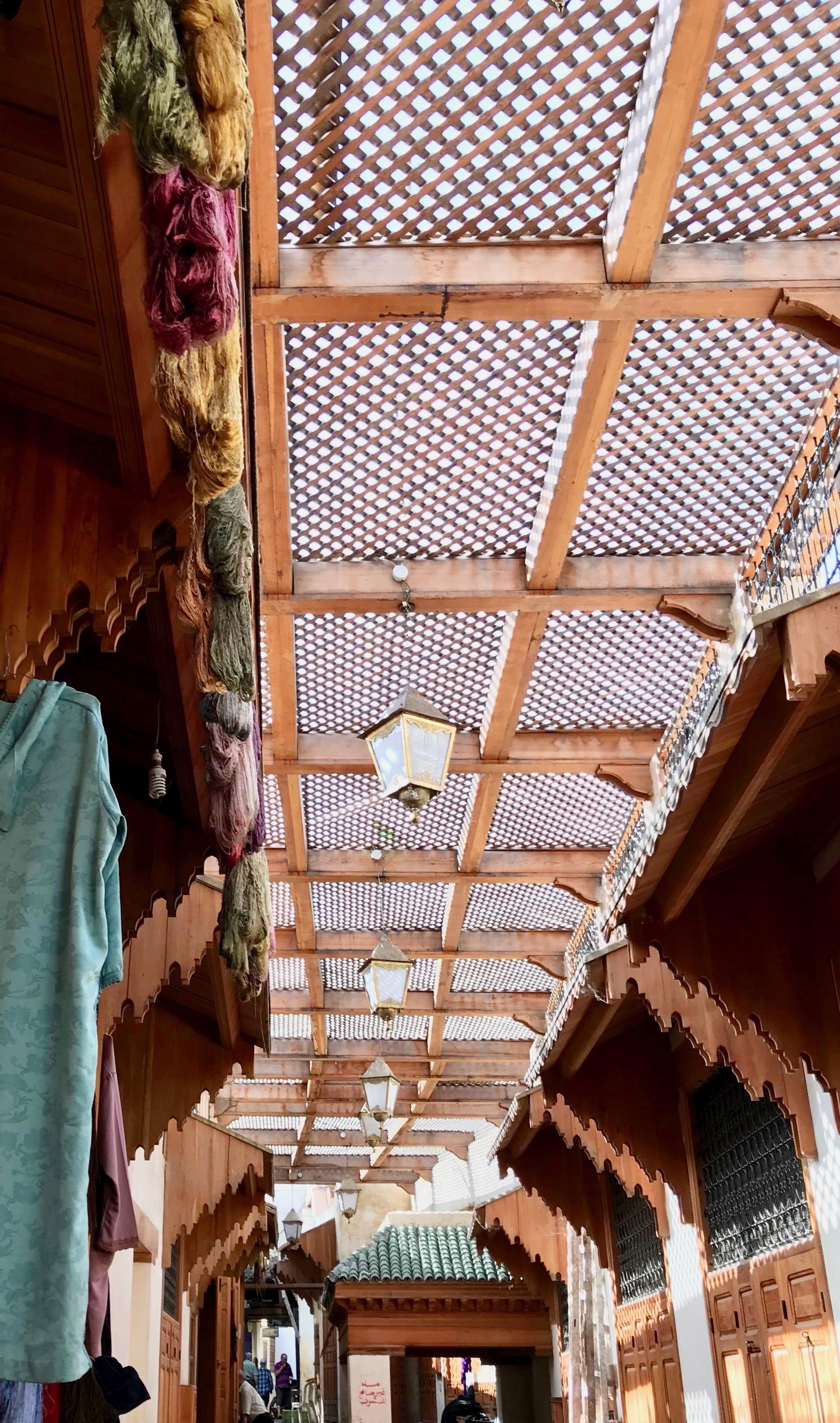 Textiles under a breezy roof