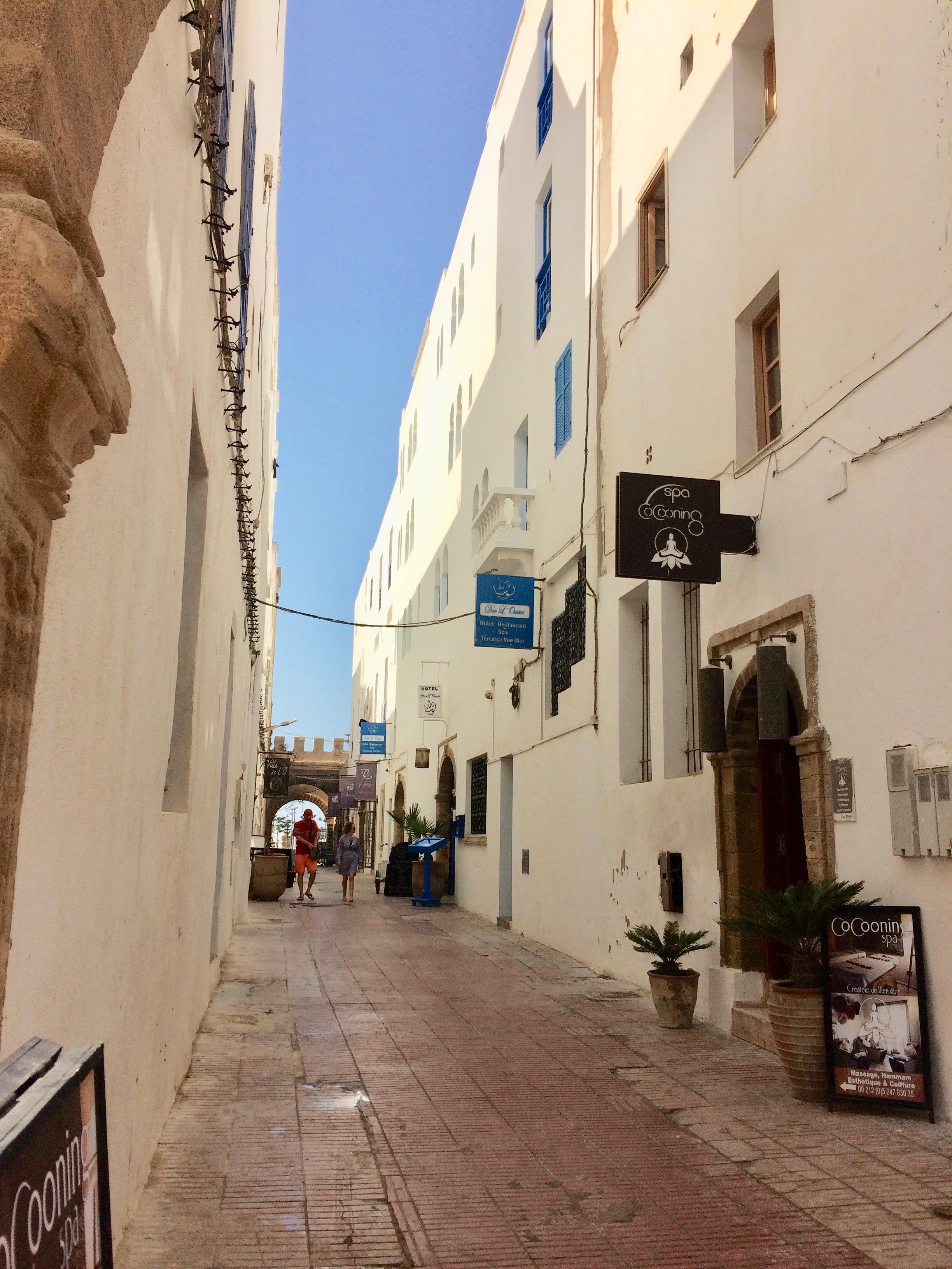 Walking lane in Essaouira