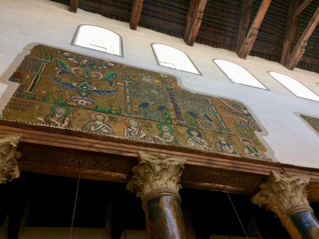 12th century mosaics in Church of the Nativity