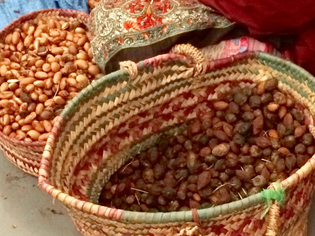 Argan nuts shelled and unshelled