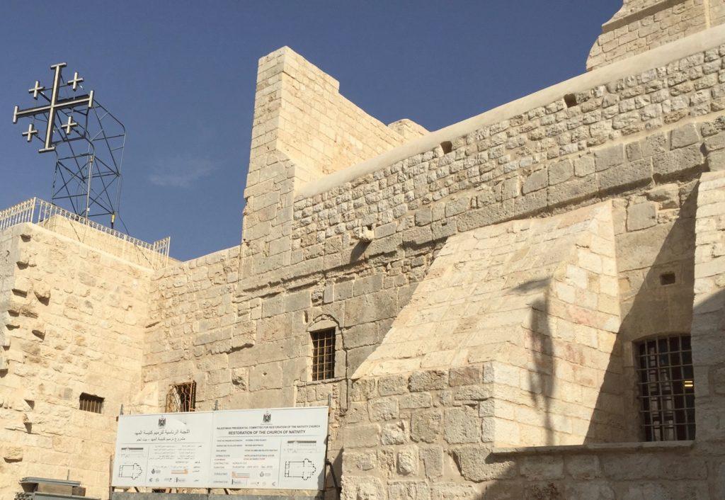 Jerusalem Cross above the Church of the Nativity
