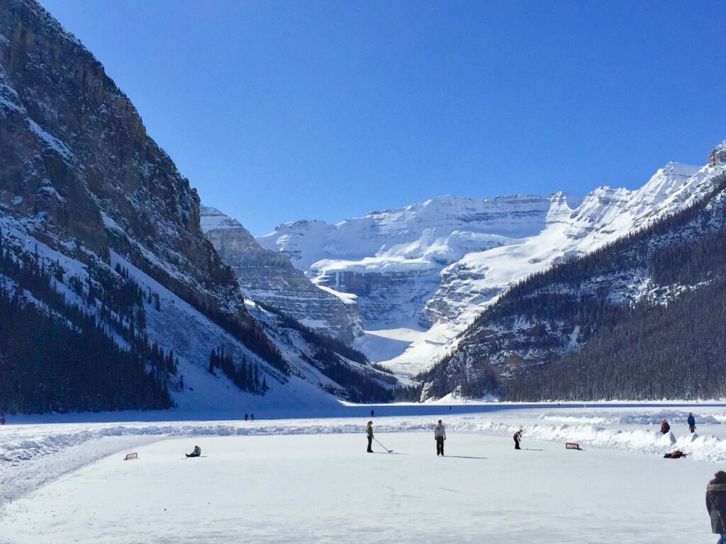 Skating rinks at Lake Louise