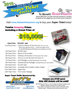 2016 Super Ticket flyer graphic