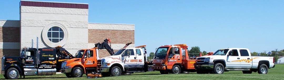 E & L Service Towing Trucks Lineup
