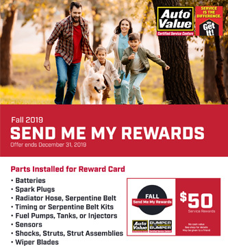 Certified Service Rewards - Fall 2019