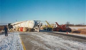 propane-truck-flipped-over-on-highway