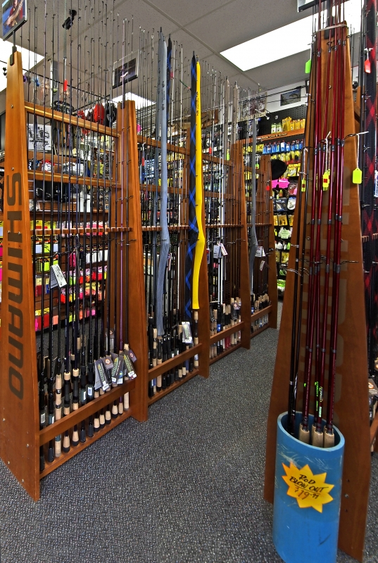 HLS - Store Random Product Pictures - Spinning Rod Racks.