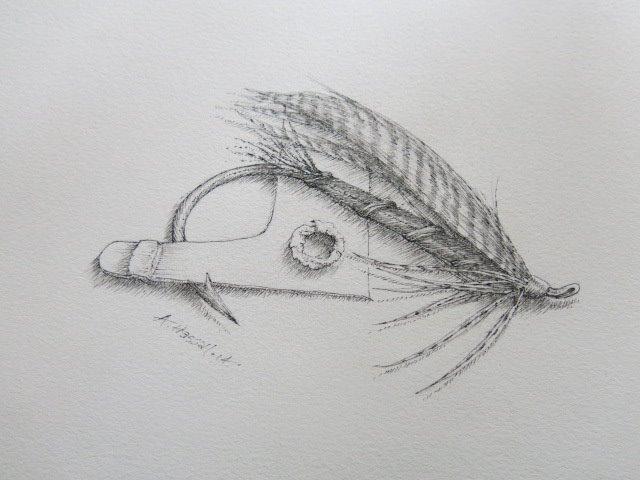 Al Hassall - Little Wet - Pen and INK