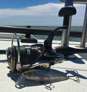 Daiwa Exist Spinning Reel Lucky Craft Lure Power Pro Braid Flats Boat Striper 2016 AAA