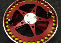 Custom HLS Float Reel Rosewood Handles Slainless Palming Ring Red Front Resized for Web