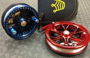Kingpin Mini Zeppelin Blue and Red Centerpin Float Reel Post Handle Conversion AAA