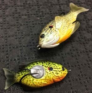 Live Target Hollow Body Sunfish Weedless AA