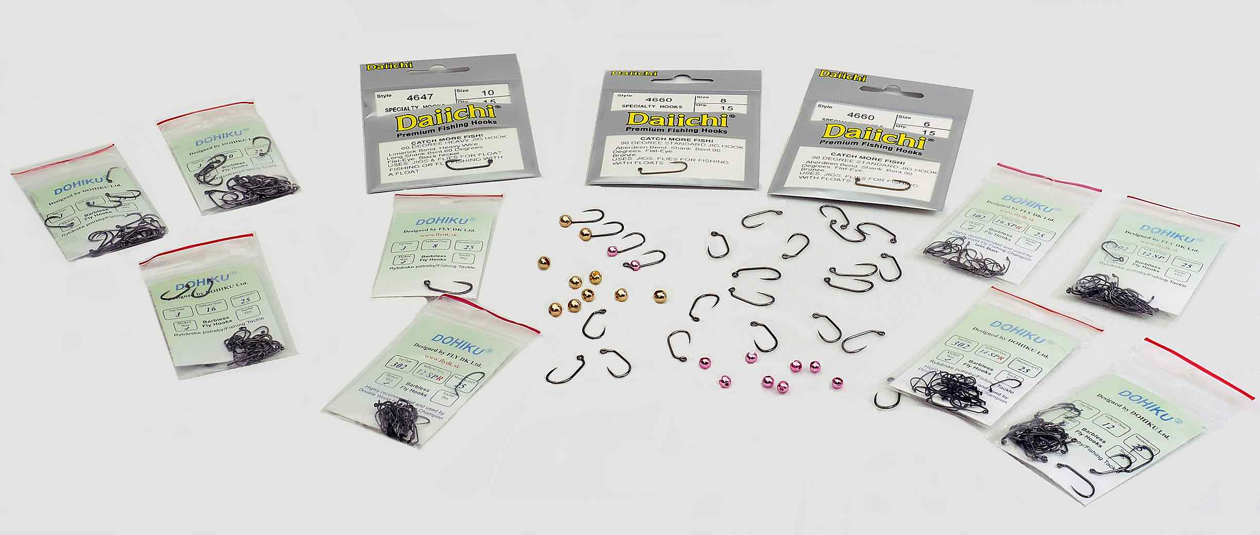 Fly Tying Jig Hooks for Bead Heads