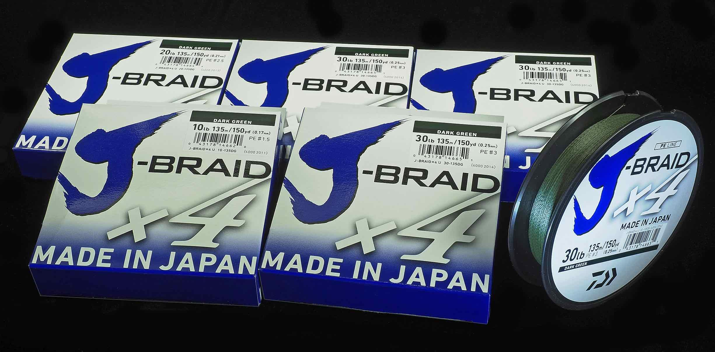 Daiwa J-Braid Braided Line 4X