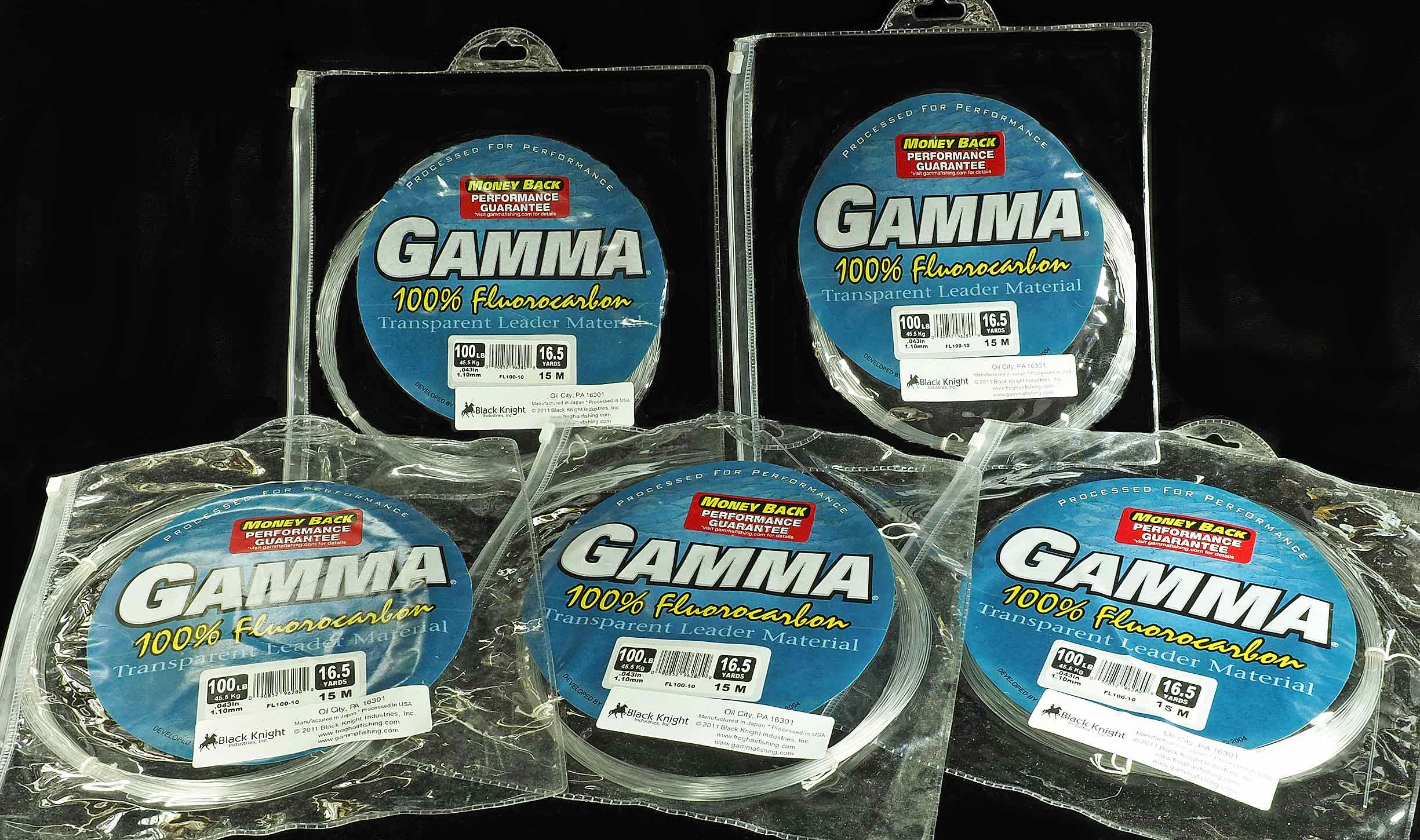 GAMMA Transparent Leader ​100% Fluorocarbon Line - 100lb Test
