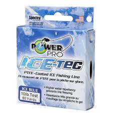 PowerPro Blue Ice-Tec - PTFE - Coated Ice Fishing Line